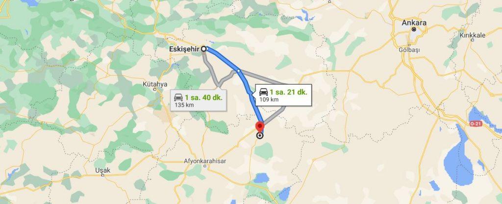 Eskişehir Emirdağ Arası Kaç KM