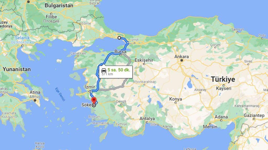Söke İstanbul Arası Kaç KM