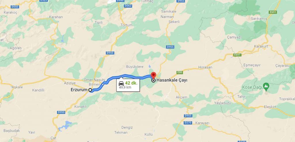 Erzurum Hasankale Arası Kaç KM
