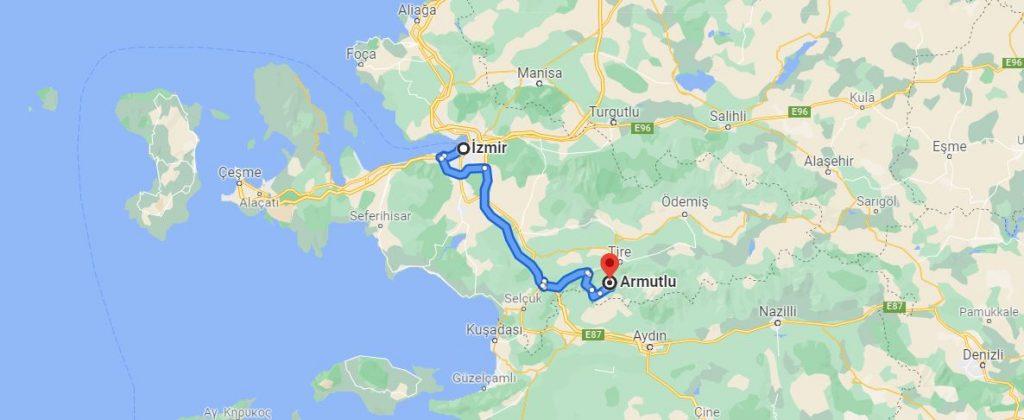 İzmir Armutlu Arası Kaç KM