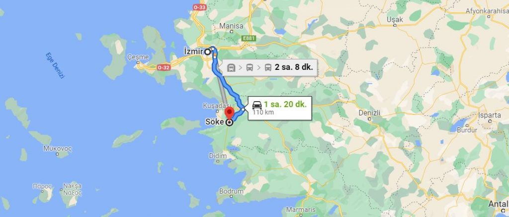 İzmir Söke Arası Kaç KM