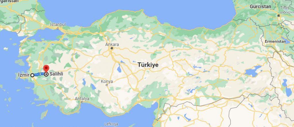 Salihli İzmir Arası Kaç KM
