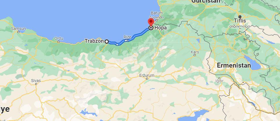 Trabzon Hopa Arası Kaç KM