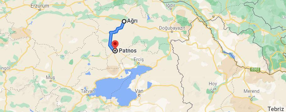 Ağrı Patnos Arası Kaç KM