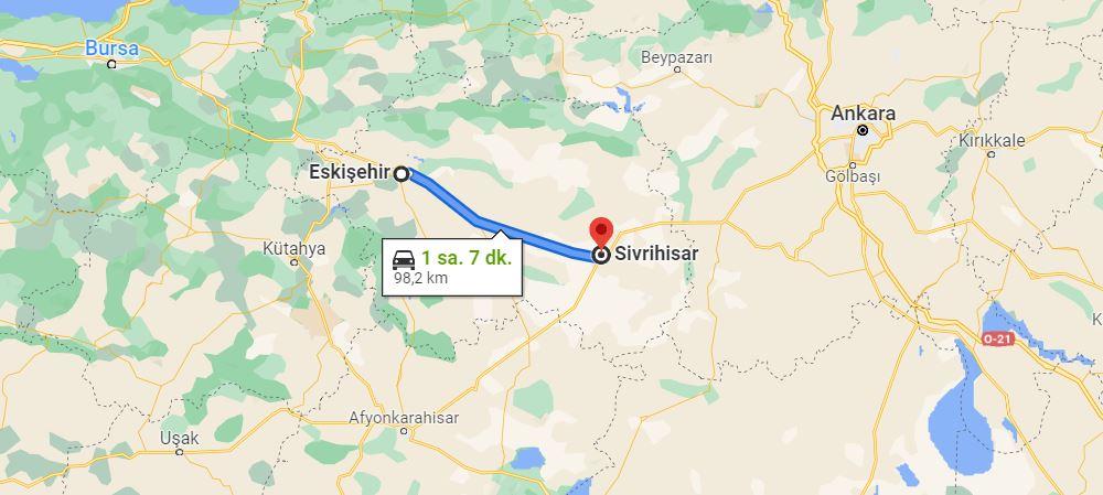 Eskişehir Sivrihisar Arası Kaç KM
