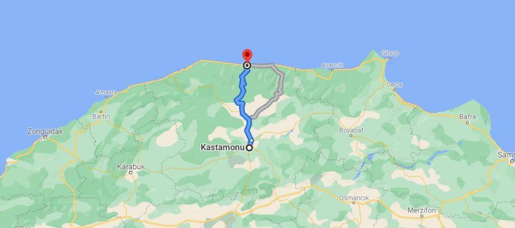 Kastamonu İnebolu Arası Kaç KM