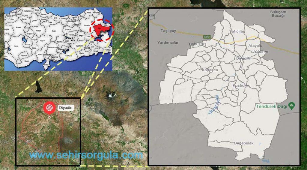 Diyadin Mahalleleri Haritası
