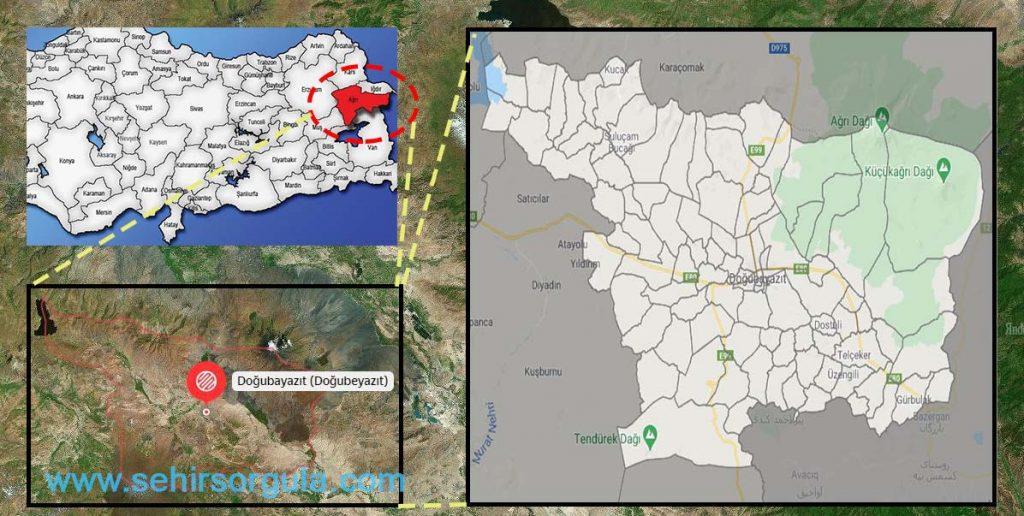 Doğubayazıt Mahalle Haritası