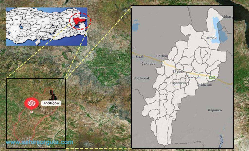 Taşlıçay Mahalle Haritası